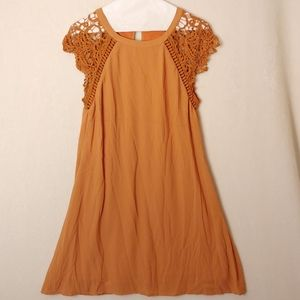 Altar'd state size small orange shift dress lace